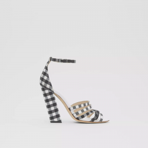 Sandali in pelle con dettaglio separato in punta Burberry